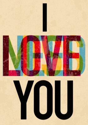 Plakat Valentine 's Day typu tekst kaligrafii