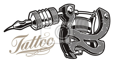 .Vector illustration of a tattoo machine