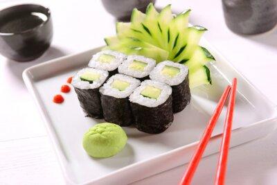 Plakat Vegan sushi