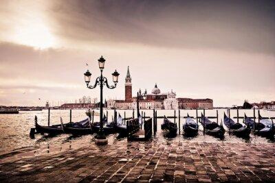 Plakat Venise Gondole Romantyczna amour amoureux lagune