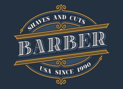 Vintage barbershop logo design