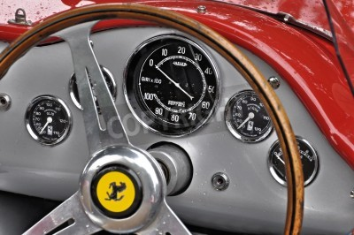 Plakat Vintage Ferrari dashboard