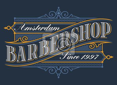 Vintage logo for the barbershop