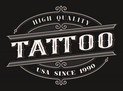 Vintage logo for the tattoo studio
