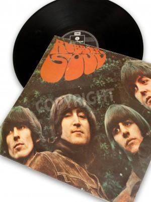 Plakat vintage original vinyl record of rockstar beatles rubber soul