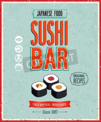 Plakat Vintage plakat Sushi Bar.