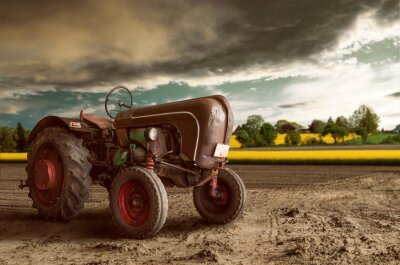 Plakat Vintage Tractor