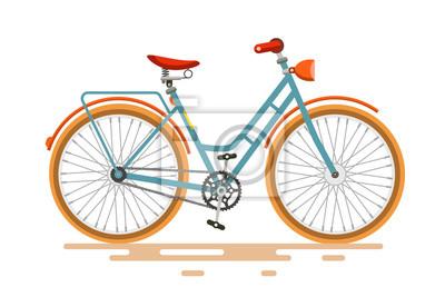 Plakat Vintage wektora rowerów. Retro rowerów samodzielnie na białym tle.