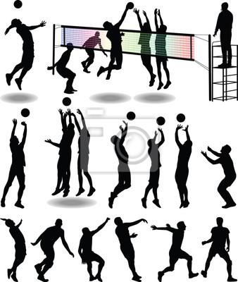 Plakat volleyball player