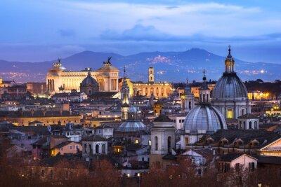 Plakat Vue des toits de Rome