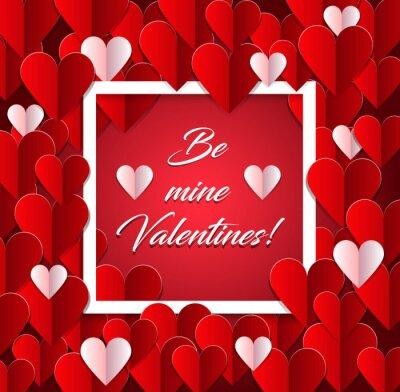 Walentynki Archiwalne tła z sercami papper