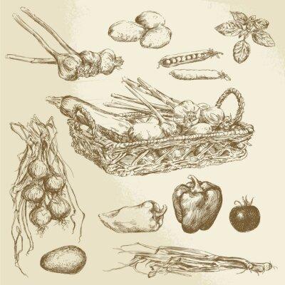 Plakat warzywa - wyciągnąć rękę kolekcja