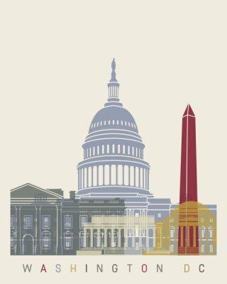 Plakat Waszyngton skyline plakat