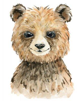 Plakat Watercolor cute bear.