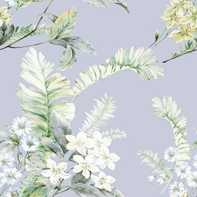 Plakat Watercolor flowers illustration