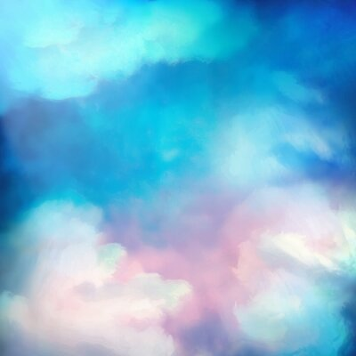Plakat Watercolor Sky Painting Vector Background