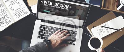 Plakat Web Desegn Pomysły Kreatywność Multimedia Koncepcja Internet Online