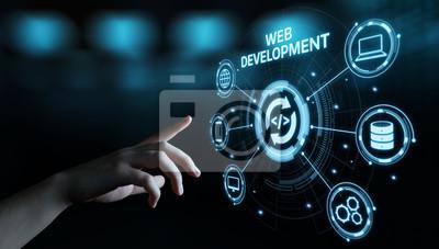 Plakat Web Development Kodowanie Programowanie Technologia internetowa Koncepcja biznesowa