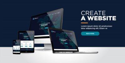 Plakat web page design