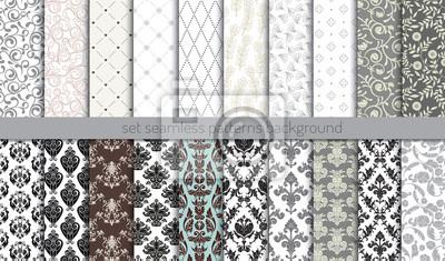 Plakat Wektor adamaszku bez szwu background.pattern próbki włączone dla użytkownika Illustrator, próbki wzór zawarty w pliku, dla wygodnego użytkowania.