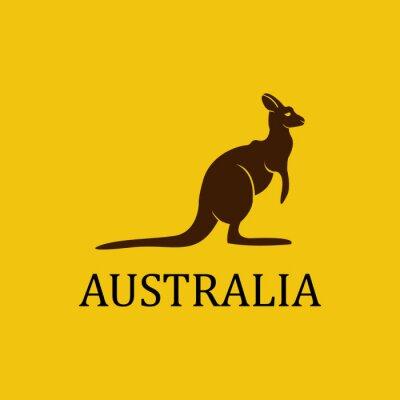 Plakat Wektor australia kangur