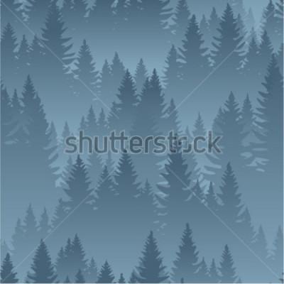 Plakat wektor góry las tekstura tło wzór