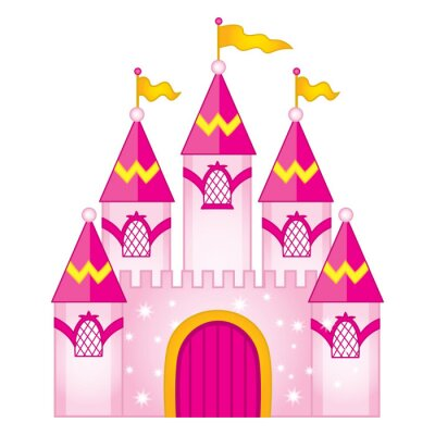 Plakat Wektor Magic Fairytale Castle