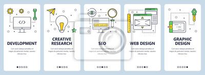 Plakat Wektor nowoczesne cienka linia koncepcja rozwoju sieci banery