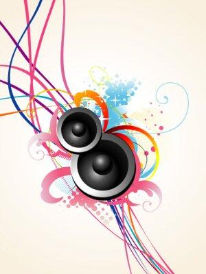 Plakat Wektor sztuki głośników