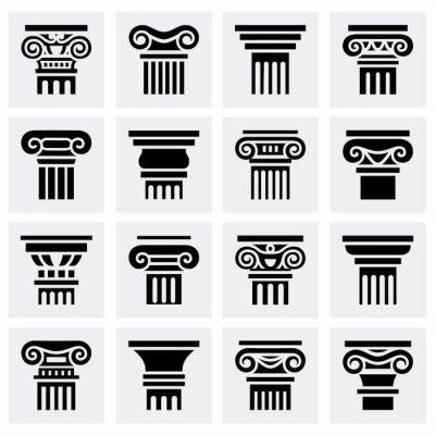 Plakat Wektor zestaw ikon Kolumna