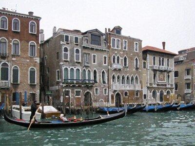 Plakat Wenecja rozmycie