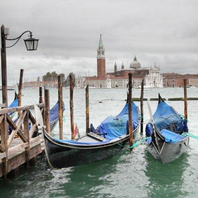 Plakat Wenecja w pochmurny dzień