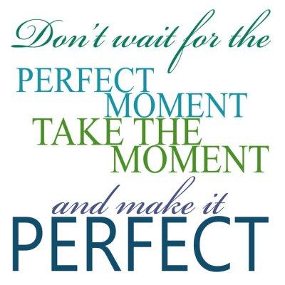 Plakat Weź chwili i uczynić go idealnym Cytat