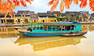 Plakat Widok na starym mieście Hoi An. Wietnam