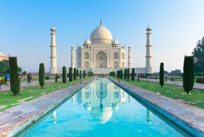 Plakat Widok rano pomnik, Taj Mahal