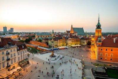 Plakat Widok z góry na Starym Mieście w Warszawie