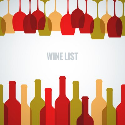 Plakat wine glass bottle art background