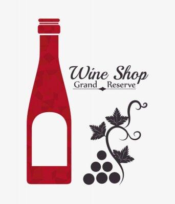 Plakat Wino cyfrowego projektowania.