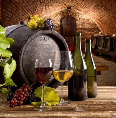 Plakat Wino nadal życia