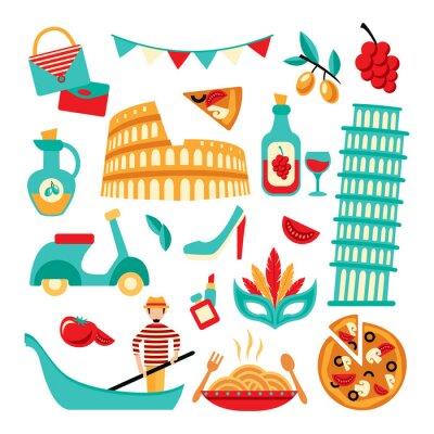 Plakat Włochy dekoracyjny zestaw