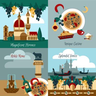 Plakat Włochy Zestaw turystyczny