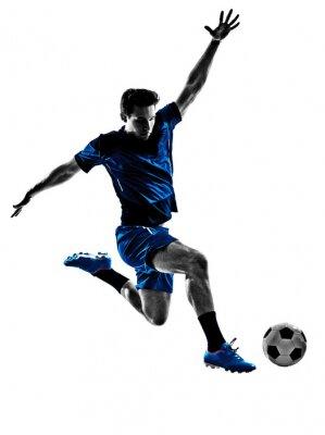 Plakat włoski piłkarz sylwetka człowieka