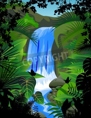 Plakat Wodospad