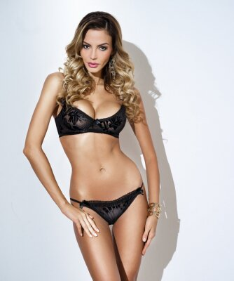 Plakat woman in fashionable lingerie