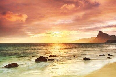 Plakat wschód słońca