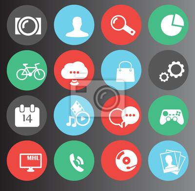 WWW, ikony mediów ustawiony 16