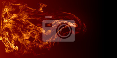Wybuchł płomień ognia blask ognia