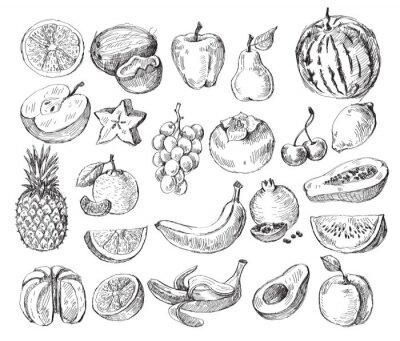 Plakat wyciągnąć rękę owoce