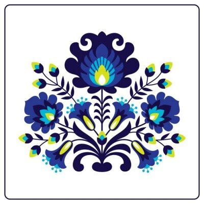 Plakat Wycinanki ludowe - Kwiaty