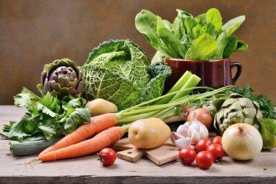 Plakat Wymieszane warzywa